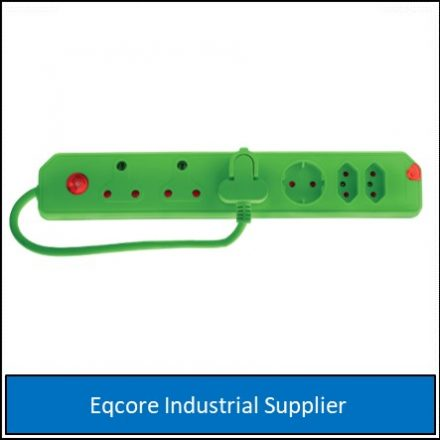 Multiplug 6 Way Overload Green