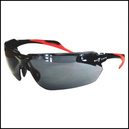 Spectacle Matsafe Blk/Red Dual Fr Smoked