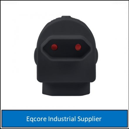 Adaptor Twin Euromate Black-Mate