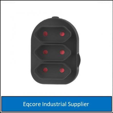 Adaptor Triple Euromate Black