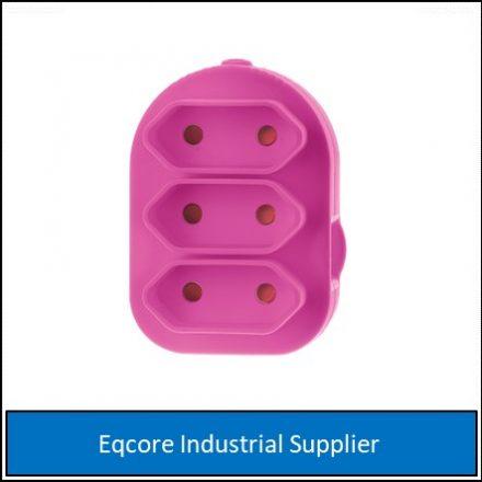 Adaptor Triple Euromate Pink