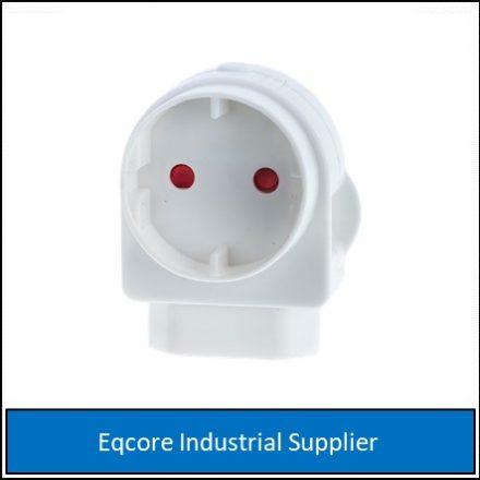 Adaptor Euro Schuko White