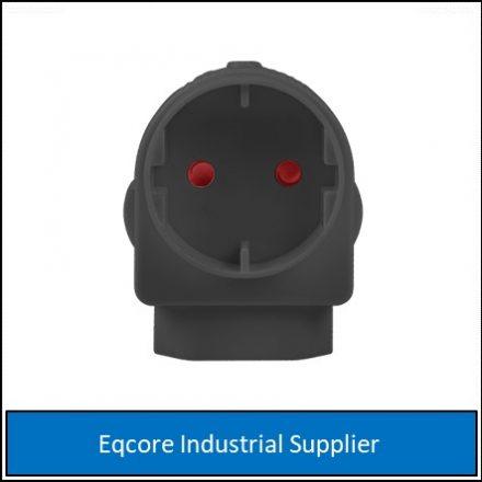 Adaptor Euro Schuko Black