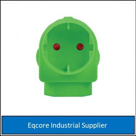 Adaptor Euro Schuko Green