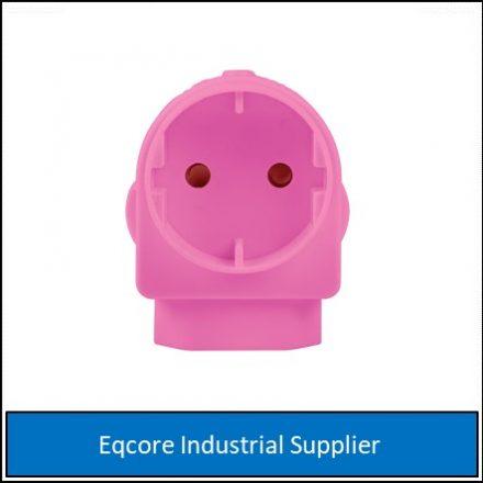 Adaptor Euro Schuko Pink