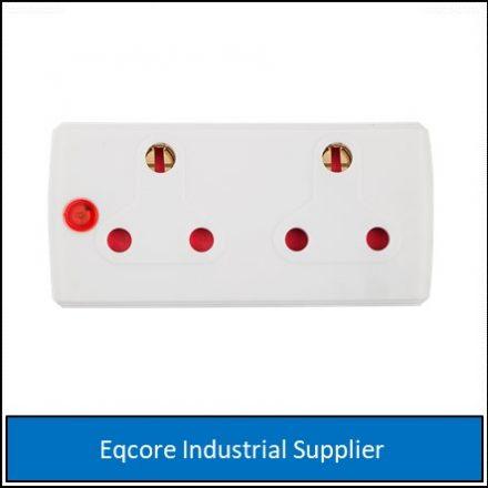 Adaptor 2 X 16Amp White