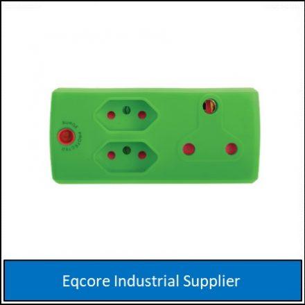 Adaptor 3Pin 1 X 16 +2 X 5Amp Green