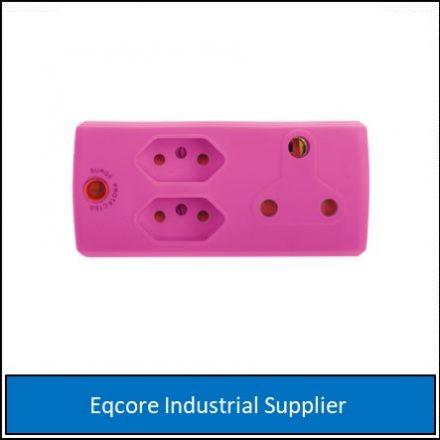 Adaptor 3Pin 1 X 16 +2 X 5 Amp Pink
