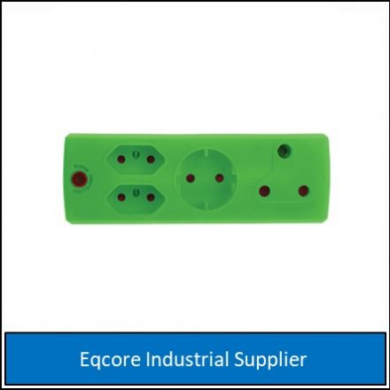 Adaptor 3Pin 1 X 16Amp +1 Xsko +2 X 5 Green