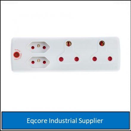 Adaptor 3Pin 2X16Amp+2X5 Surge White