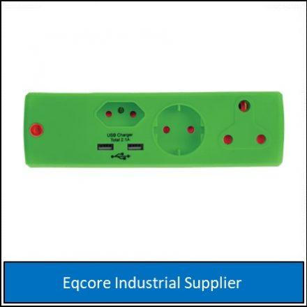 Adaptor 3Pin 1X16Amp+1+Sko+1X5+2Usb Gree