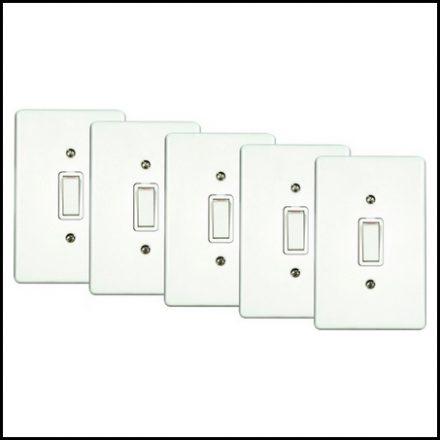 Elec Mts Switch 1L Assem Bulk Pk 5Pc Pvc