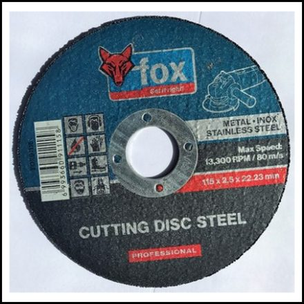 Abrasive Fox Cut Stainless Steel 115 X 2.5 mm Pro