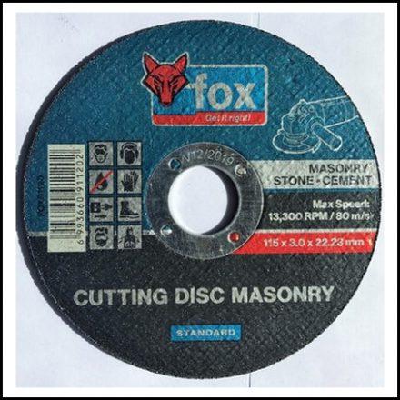 Abrasive Fox Cut Masonry 115 X 3 mm Std