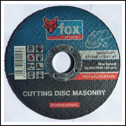 Abrasive Fox Cut Masonry 115 X 3 mm Pro