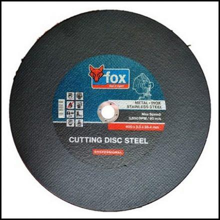 Abrasive Fox Cut Stainless Steel 400 X 3 mm Pro