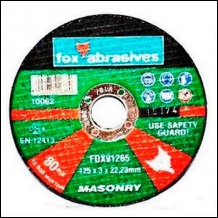 Abrasive Fox Cutoff Mason 115 X 3 mm