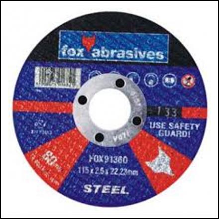 Abrasive Fox Cutoff Steel 115 X 2.5 mm