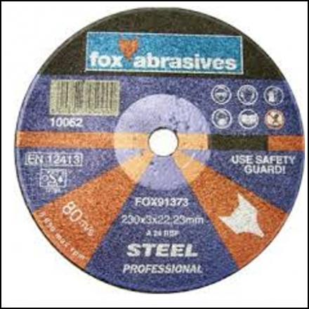 Abrasive Fox Cutoff Steel 230 X 3 mm Professional