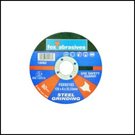 Abrasive Fox Grinding Disc Steel 125 X 6 mm