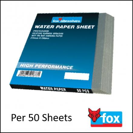 Abrasive Fox Sheet Water Paper Top Full Pro P150050