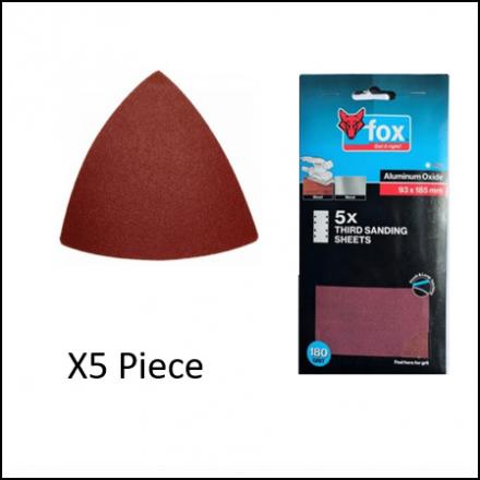 Abrasive Fox Mouse Sanding P60 5Pc 95 X 14 mm