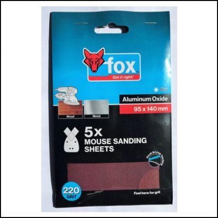 Abrasive Fox Multi Sanding Sheets P80 5Pc