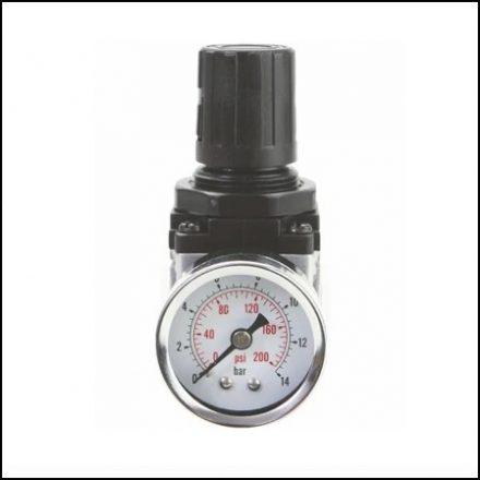 Groz Air Regulator With Gauge Standard 1/2 Inch