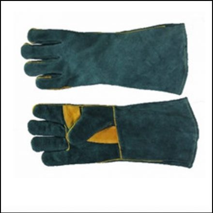 """Glove 8"""" Green Lined Elbow Length Reinforced Palm"""
