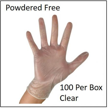 Glove Examination Gloves Powdered Free 100 Pcs Box