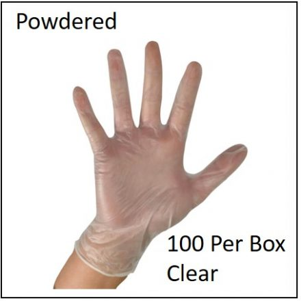Glove Examination Gloves Powdered 100 Pcs Box