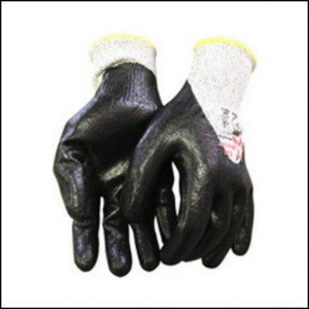 Cut Glove Nitrox Pro Lv5 Knuckle Flat Nitrile Palm 3/4 Dip
