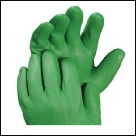 Lime Green Pvc Knit Wrist Glove