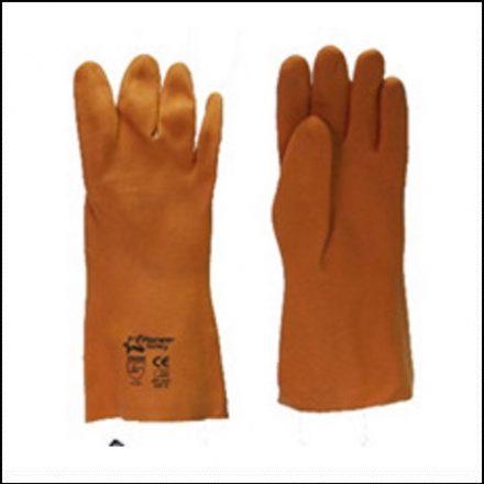Glove Orange Foam Pvc Glove 35Cm Open Cuff