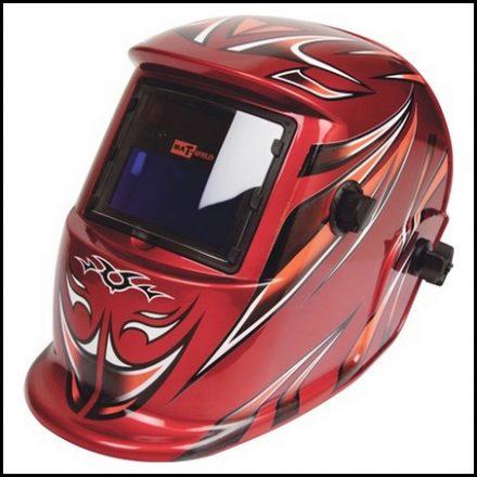 Helmet Matweld Auto Dark W/Grinding Red