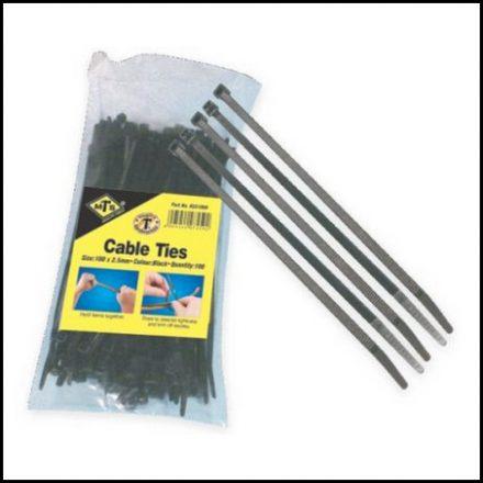 Cabletie Ht Black 200X4 6mm Pk100 T50R