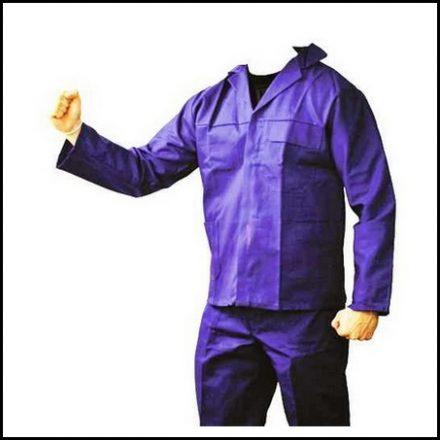 Overall 2 Piece R/Blue 100% Cotton J54 32
