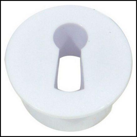 Mackie Lock C/Board Escutcheon White 2 Piece