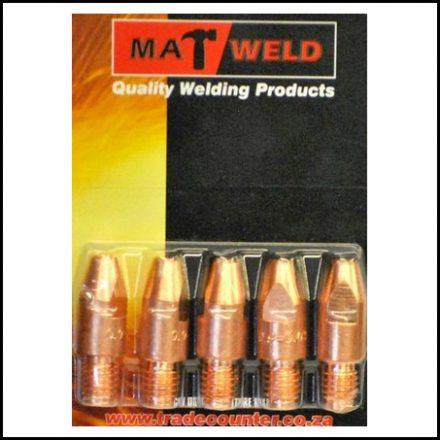 Matweld Prepack Contact Tip M8X1 0 5