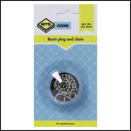Mts Home Basin Plug & Chain Black 1Pcc