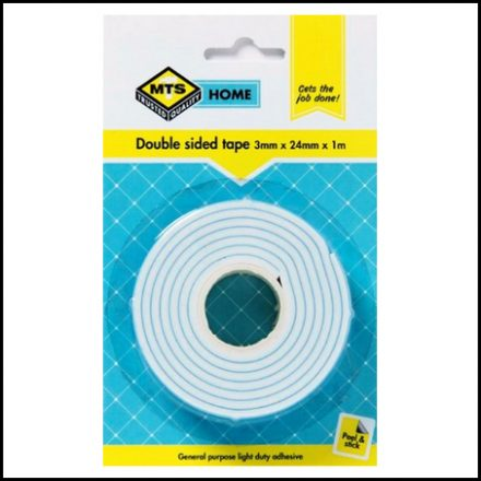Mts Home Double Sided Tape 3mmx24mmx1M