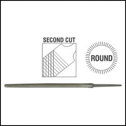 File Afile Round 2Nd Cut 15mm Sleeve