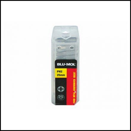 Blu-Mol Screwdriver Bit S2 Ph2X25mm 25Pc