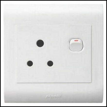 Elec Mts Socket Single 4X4 Pvc Strip